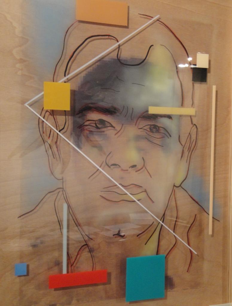 """2º Premio del IX Certamen de Pintura Ateneo de Cáceres. Obra: """"Con el paso del tiempo. Autorretrato"""" Autor: Jesús Pérez Hornero"""